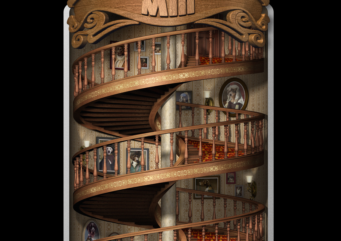Mr Min Staircase - Close Up