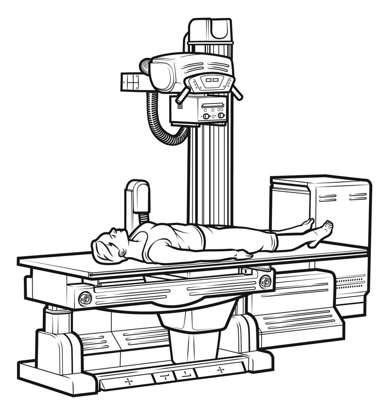 X Ray Machine Drawing